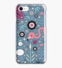 Flamingo & Chick  iPhone Case/Skin
