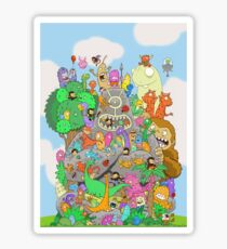 All Kinds of Critters Sticker