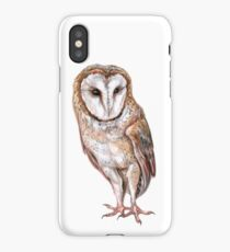 Barn owl drawing iPhone Case