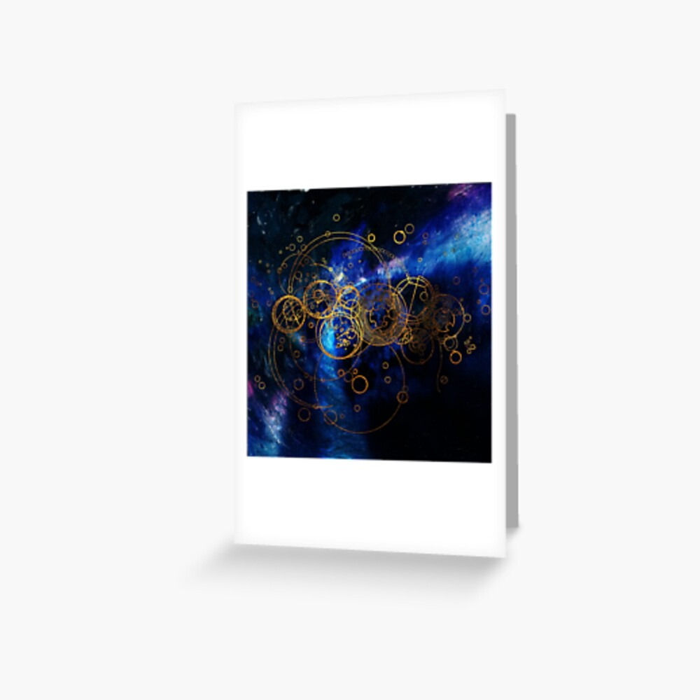 Time Lord Writing (blue) Greeting Card