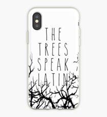 The trees speak latin iPhone Case