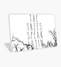 The trees speak latin Laptop Skin