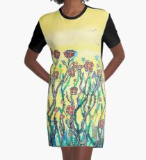 Spring Garden Graphic T-Shirt Dress