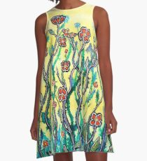 Spring Garden A-Line Dress