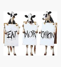 photo relating to Eat Mor Chikin Printable Sign titled Chick Fil A Wall Artwork Redbubble