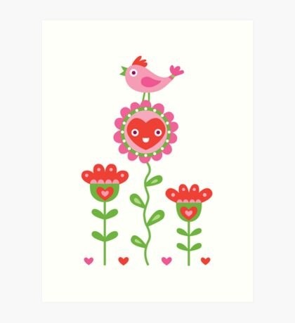 Happy - sweet print Art Print