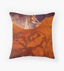 Leaf Shadow Throw Pillow