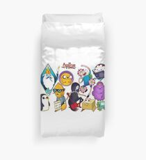 Adventure Time Tattoo Style Flash Duvet Cover