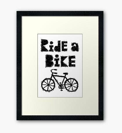 Ride a Bike - woody  Framed Print