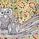 Christmas Owls 3 by kewzoo