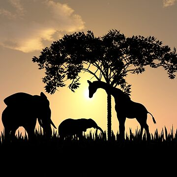 Safari silhouette  by RenderlyYours