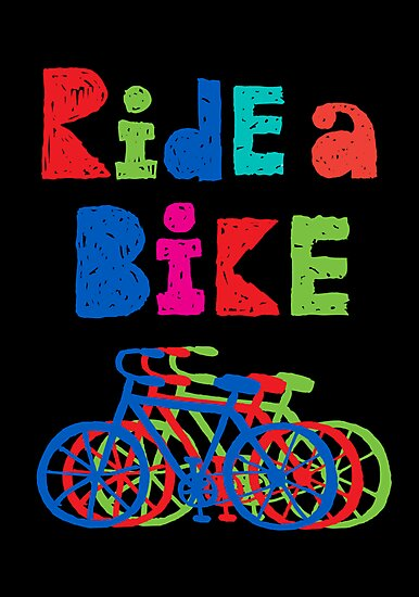 Ride a Bike - sketchy - black by Andi Bird