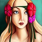 She Wore Flowers in her Hair. by Sarah Maciocci