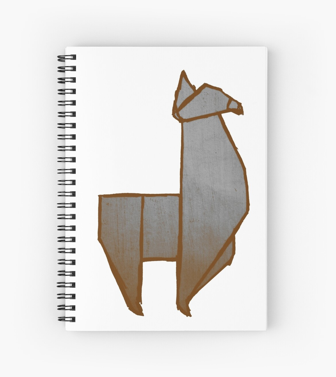 Origami Llama Spiral Notebooks By The Acorn Redbubble