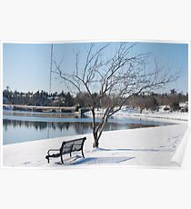 Afternoon winter bench 2 Poster