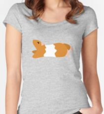 Teddy Bear Hamster Fitted Scoop T-Shirt