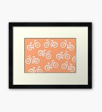 Bicycles - white and pink Framed Print