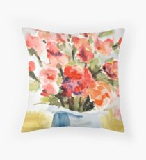 Red Poppies for Belinda Throw Pillow