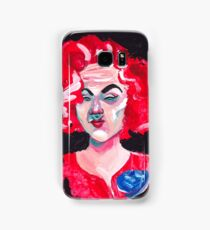 THE LADY WITH THE BLUE ROSE Samsung Galaxy Case/Skin