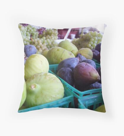 Figs & Grapes Throw Pillow