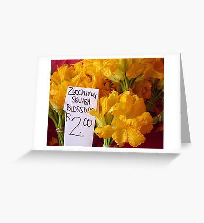 Squash Blossoms Greeting Card