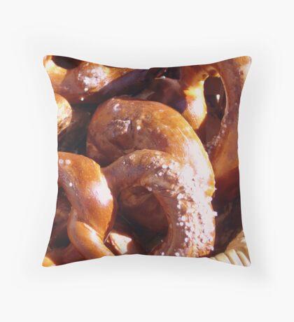 Warm Pretzels Throw Pillow