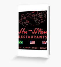Jiu-Jitsu restaurant Greeting Card