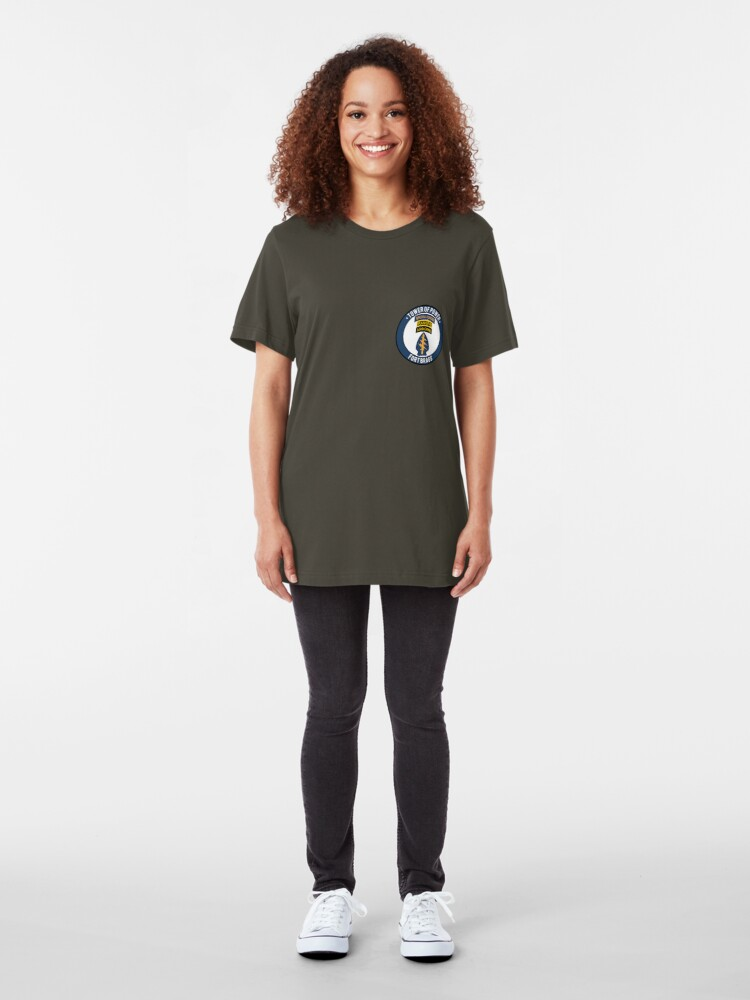 Alternate view of Special Forces Tower of Power Slim Fit T-Shirt