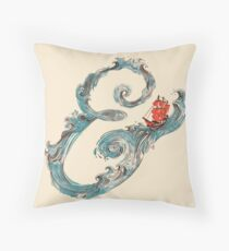 Water Ampersand Throw Pillow