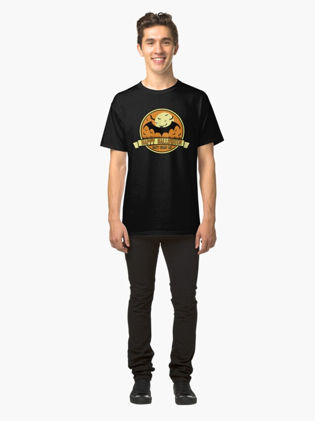 Alternate view of Spooky Scene Halloween Scene Scary Scene Bat. Classic T-Shirt
