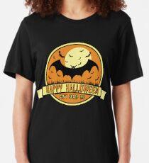 Spooky Scene Halloween Scene Scary Scene Bat. Slim Fit T-Shirt