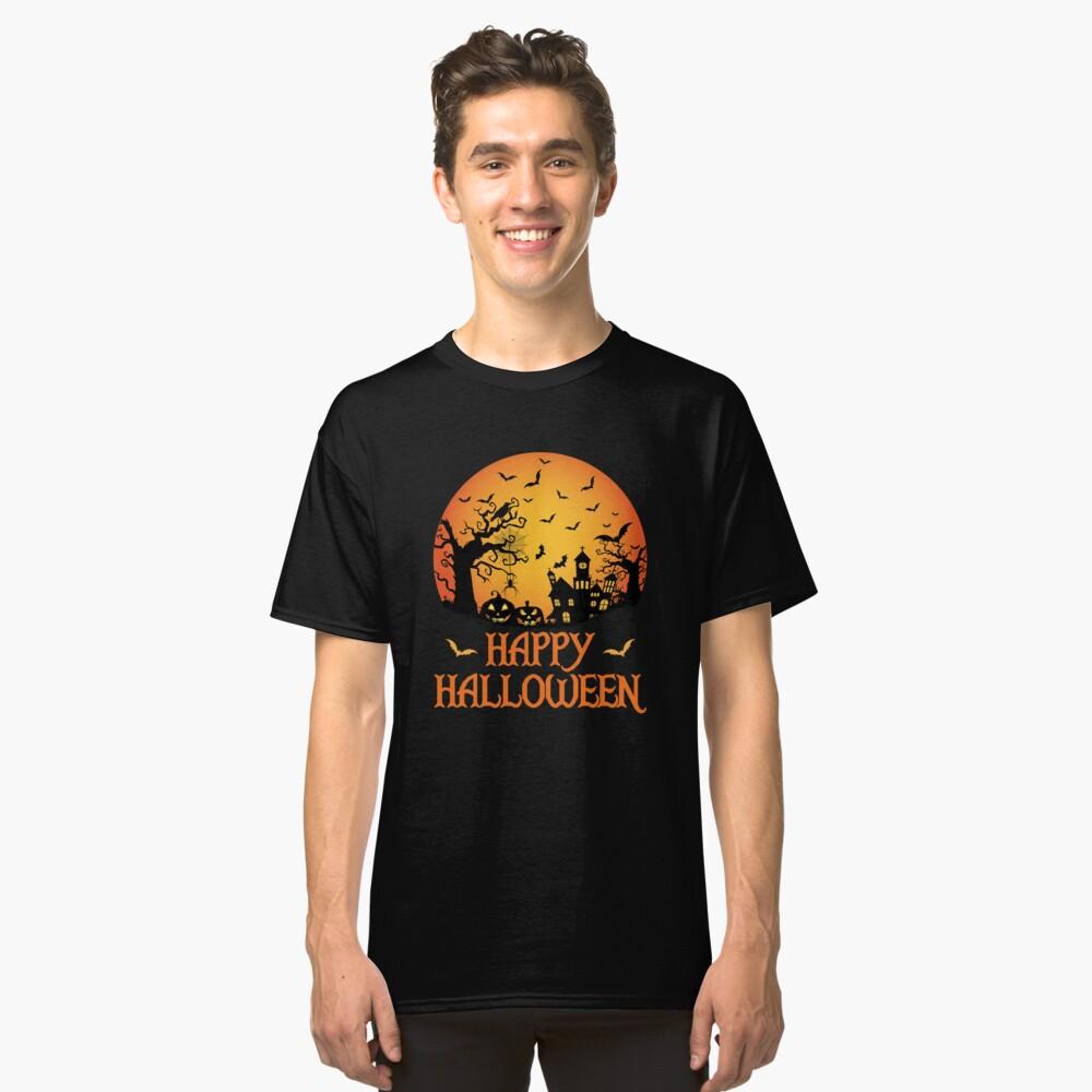 Spooky Scene Halloween Scene Scary Scene Design Classic T-Shirt