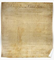 Original United States Constitution Bill of Rights December 15, 1791 Poster