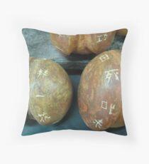 Ceramic Peaches Throw Pillow