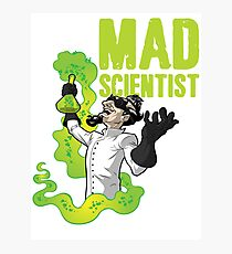 Mad Scientist T Shirt Photographic Print