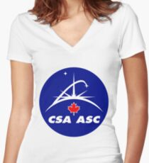 Canadian Space Agency Women's Fitted V-Neck T-Shirt