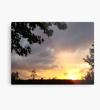 Watercolor Sunset Metal Print