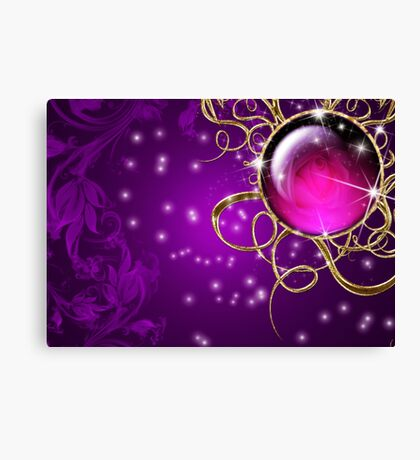 Purple Abstract Passion Jewel Canvas Print
