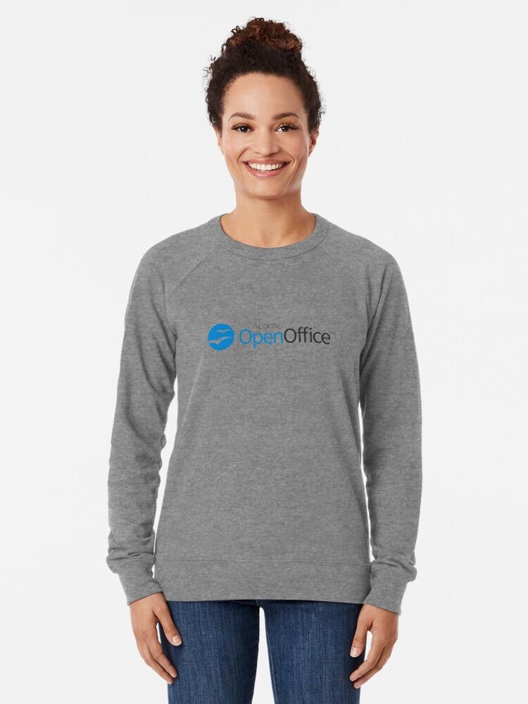 Alternate view of Apache OpenOffice Lightweight Sweatshirt