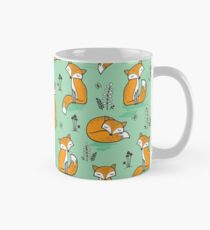 Dreamy Fox in Green Mug
