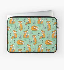 Dreamy Fox in Green Laptop Sleeve
