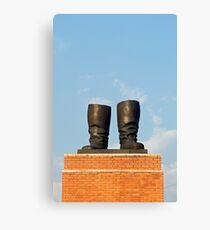 Stalin's Grandstand, Statue Park, Budapest, Hungary  Leinwanddruck