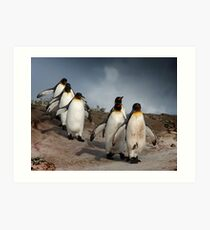March of the Penguins Art Print