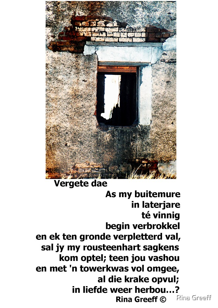 Vergete dae by Rina Greeff