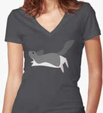 Chinchilla Fitted V-Neck T-Shirt