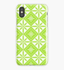 Lime Green 1950s Inspired Diamonds iPhone Case/Skin