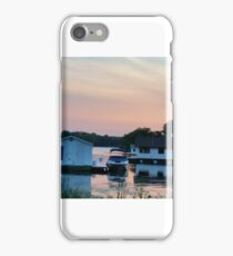 Houseboats on the bay at  sunset iPhone Case/Skin