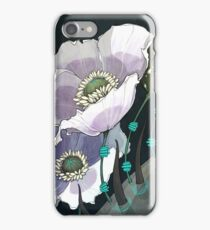 White Opium Poppies  iPhone Case/Skin