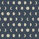 Aquarell Mondphasen Muster von kennasato
