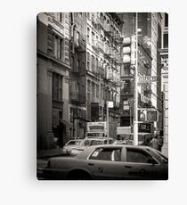 Toned streetscape in Broadway Canvas Print
